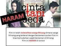 Film Cinta Tapi Beda Lecehkan Warga Minang