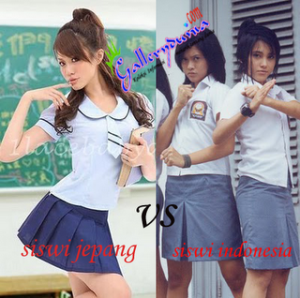 siswi jepang vs indonesia